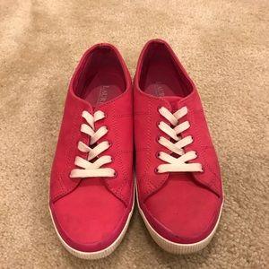RALPH LAUREN | pink leather sneakers